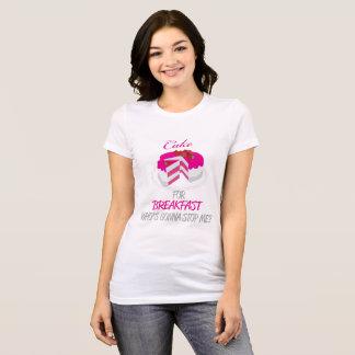 Torta para el desayuno Camisa-Rosado Camiseta