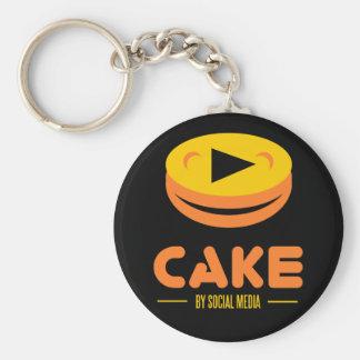 torta por medios sociales llavero