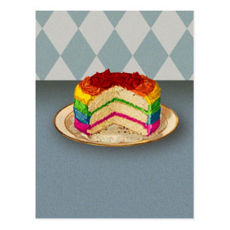 Torta retra del arco iris postal