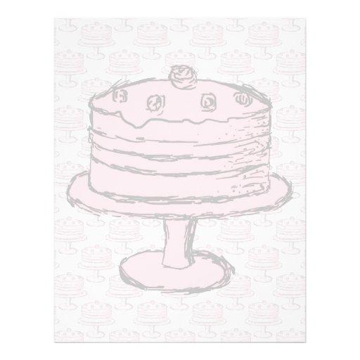 Torta rosada en modelo rosado de la torta flyer personalizado