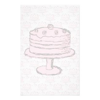 Torta rosada en modelo rosado de la torta folleto 14 x 21,6 cm