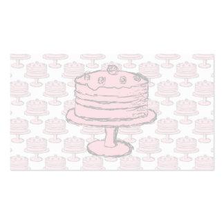Torta rosada en modelo rosado de la torta tarjeta de negocio