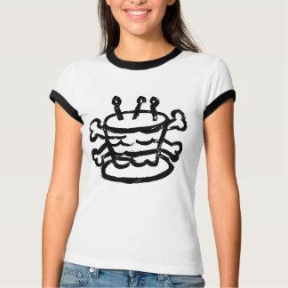 Torta y bandera pirata camisetas
