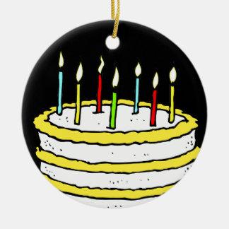 Torta y velas de cumpleaños ornamentos de reyes magos