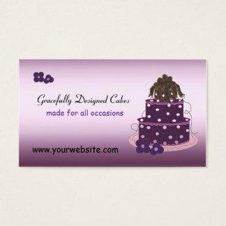 Tortas agraciado diseñadas tarjeta de negocios