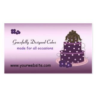 Tortas agraciado diseñadas tarjeta de visita