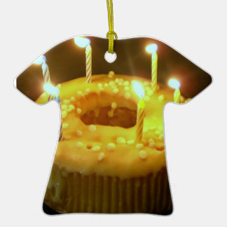 Tortas de cumpleaños, velas adorno de cerámica en forma de camiseta