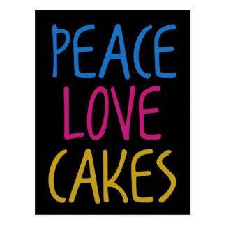 Tortas del amor de la paz postal