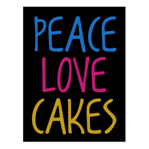 Tortas del amor de la paz tarjetas postales