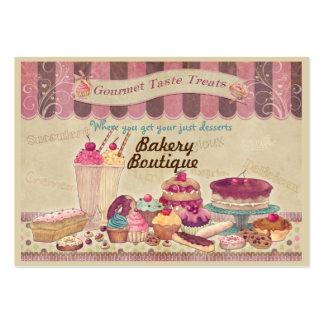 Tortas del boutique de la panadería y tarjeta de tarjetas de visita