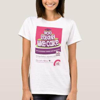 Tortas para la camiseta de la torta de las causas