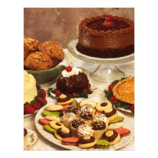 Tortas y dulces folleto 21,6 x 28 cm