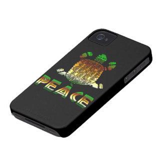 Tortuga de la paz Case-Mate iPhone 4 cárcasa