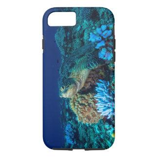 Tortuga de mar en la gran barrera de coral funda iPhone 7