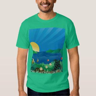 Tortuga de mar verde de Hawaii Camisetas