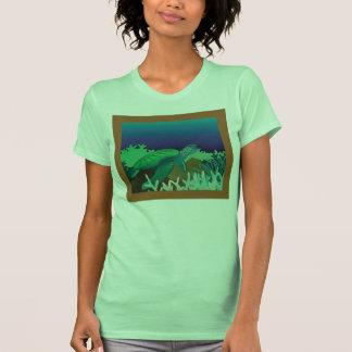 Tortuga de mar verde de Hawaii e isla de Oahu Camisetas