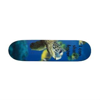 Tortuga de mar verde patineta personalizada
