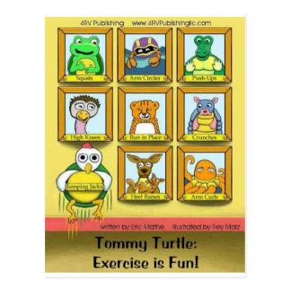 Tortuga de Tommy: ¡El ejercicio es diversión!  Con Postales