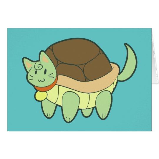 Tortuga del gato tarjeta de felicitación