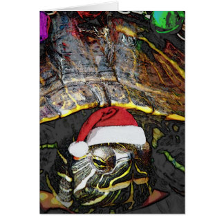 Tortuga del navidad tarjeta de felicitación