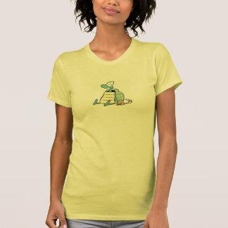 Tortuga del pantano y camiseta del caracol