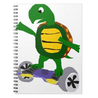 Tortuga divertida en arte de la original de cuadernos