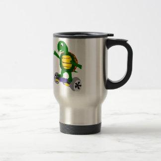 Tortuga divertida en arte de la original de taza térmica