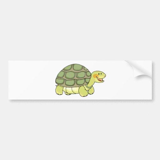 Tortuga linda etiqueta de parachoque
