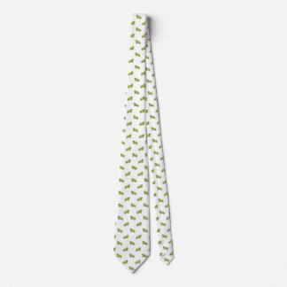 Tortuga verde del dibujo animado con el modelo de corbata