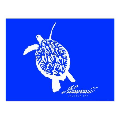 Tortugas de Hawaii Honu de la hawaiana Tarjeta Postal