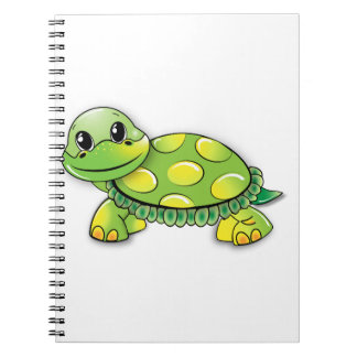Tortugas en un cuaderno