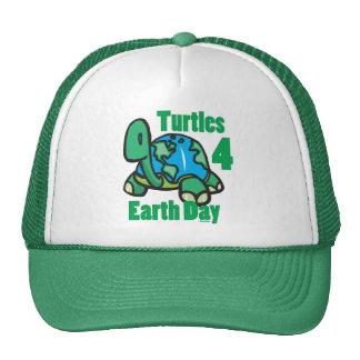 Tortugas para el gorra del Día de la Tierra