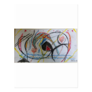 tortuoso y lleno de esperanza, el color está allí: postal
