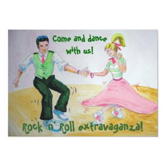 Torzamos balancean otra vez rock-and-roll del invitación 12,7 x 17,8 cm