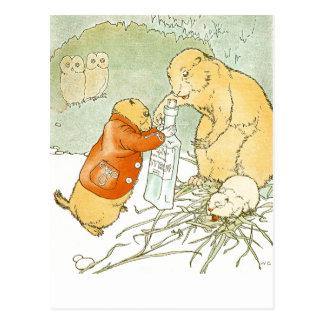 Toses enfermas del perro de las praderas del bebé postal