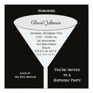 Tostada adulta de la fiesta de cumpleaños invitación 13,3 cm x 13,3cm