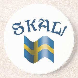 Tostada de consumición sueca de Skal con la Apoyavasos