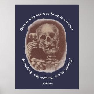 Tostada esquelética de Aristóteles solamente una Póster