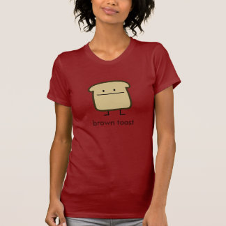 tostada marrón camisetas