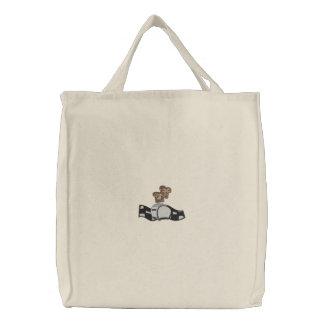 Tostadora retra bordada - tostada surgiendo bolsa