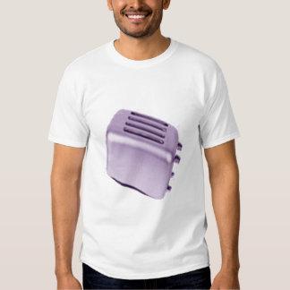 Tostadora retra - púrpura camiseta