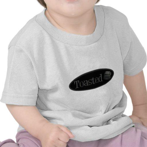 Tostadora retra TOSTADA - negro y gris Camiseta