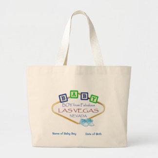 Totalizador personalizado del jumbo del bebé de bolsa de tela grande