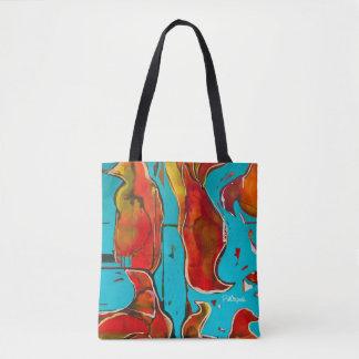 Tote abstracto brillante bolsa de tela