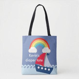 Tote adaptable del pañal, la bolsa de pañales con