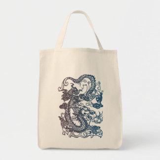 Tote chino del dragón bolsa tela para la compra
