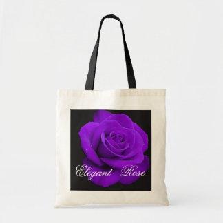 Tote color de rosa púrpura elegante bolso de tela