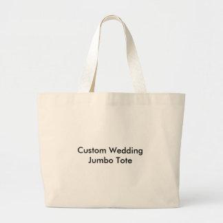Tote de encargo del jumbo del boda bolsa