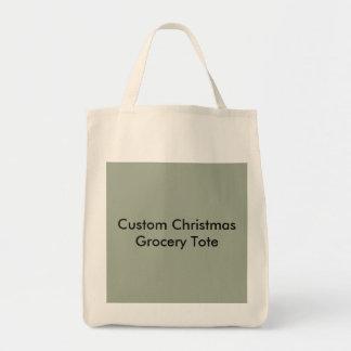 Tote de encargo del ultramarinos del navidad bolsa tela para la compra
