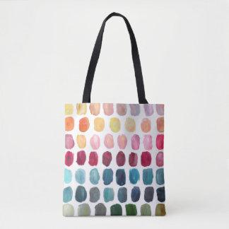 Tote de la paleta de colores bolsa de tela